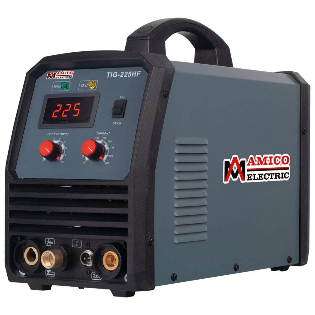 Amico TIG-225HF, 225-Amp TIG Stick DC Inverter Welder, 100~250V Wide Voltage Welding, 80% Duty Cycle
