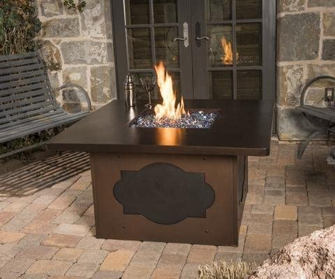 Meridian Outdoor Living Maitre D Propane Fire Pit Table