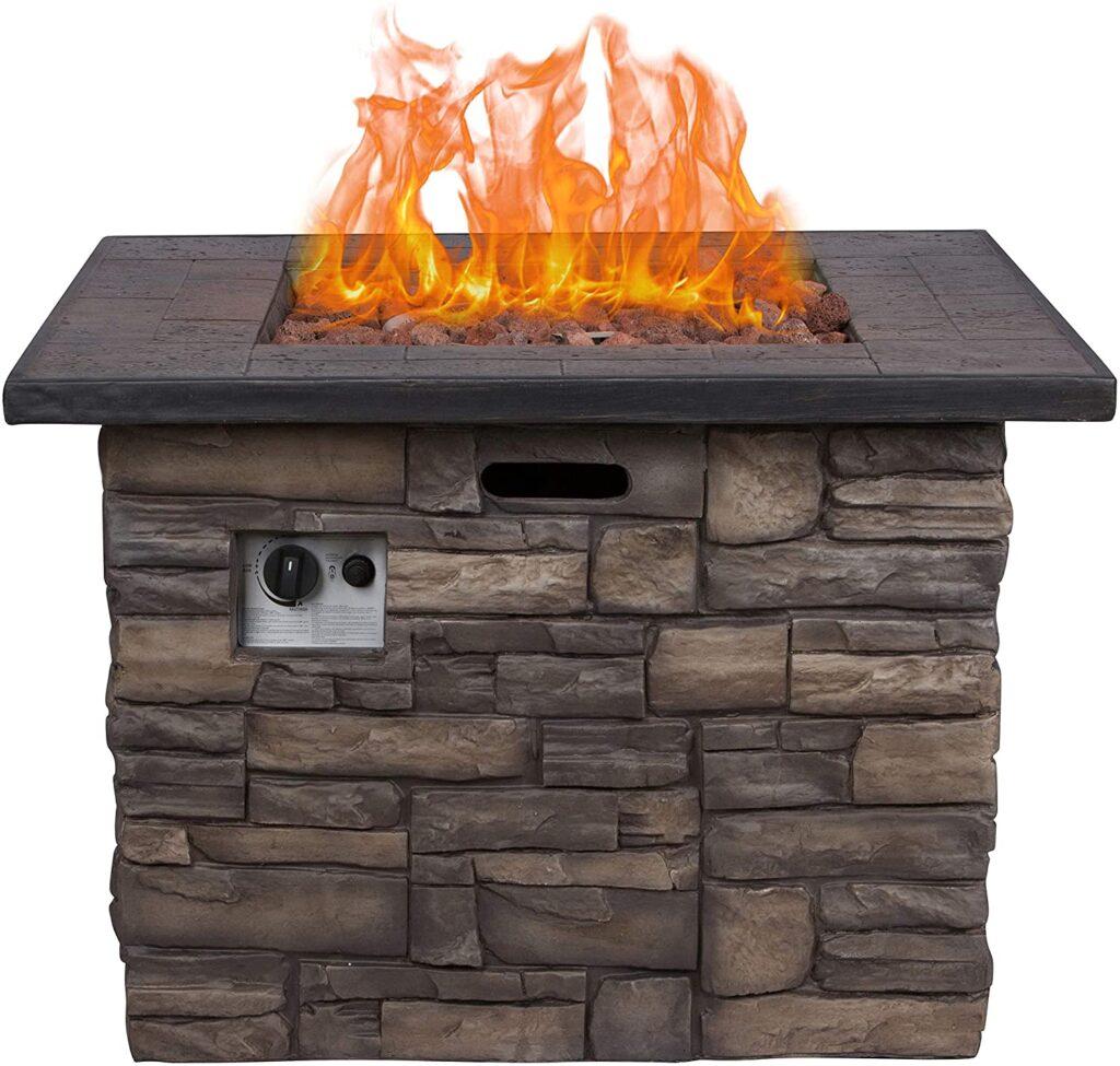 Shine Company Sevilla Gas Fire Pit Table