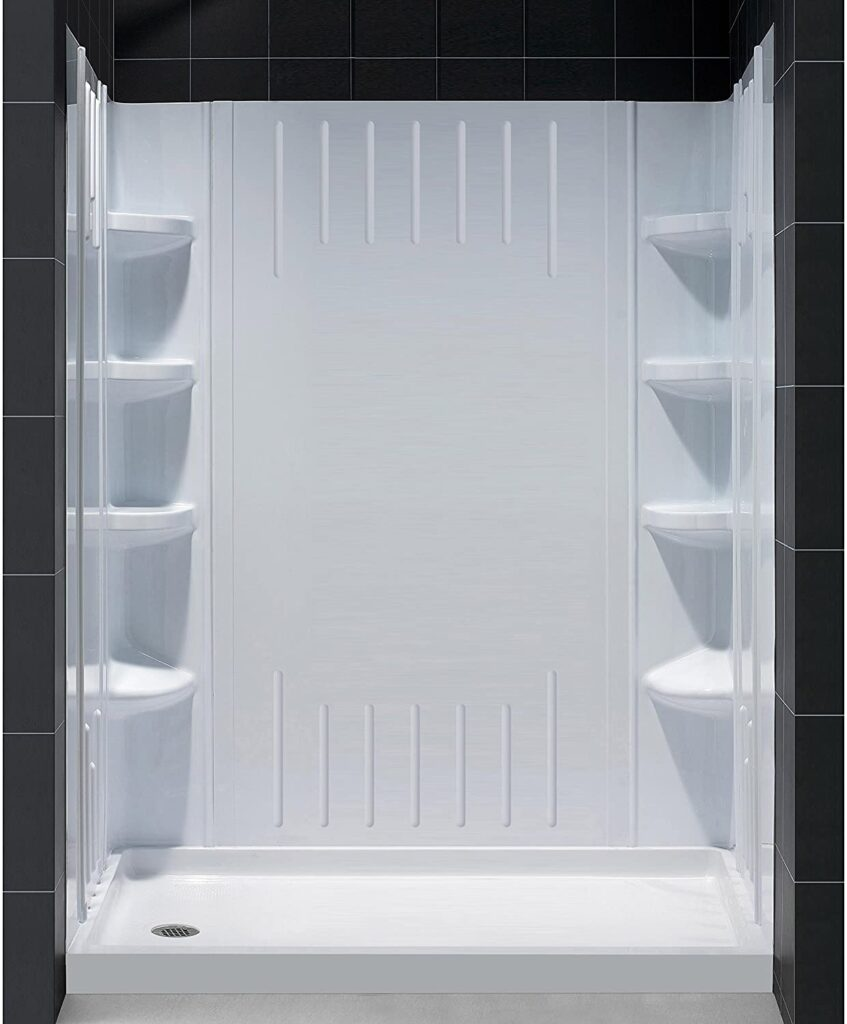 DreamLine DL-6148L-01 Shower Base and Backwall Kit