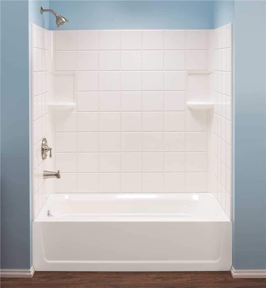 Mustee 670WHT Fiberglass Bathtub Wall Surround