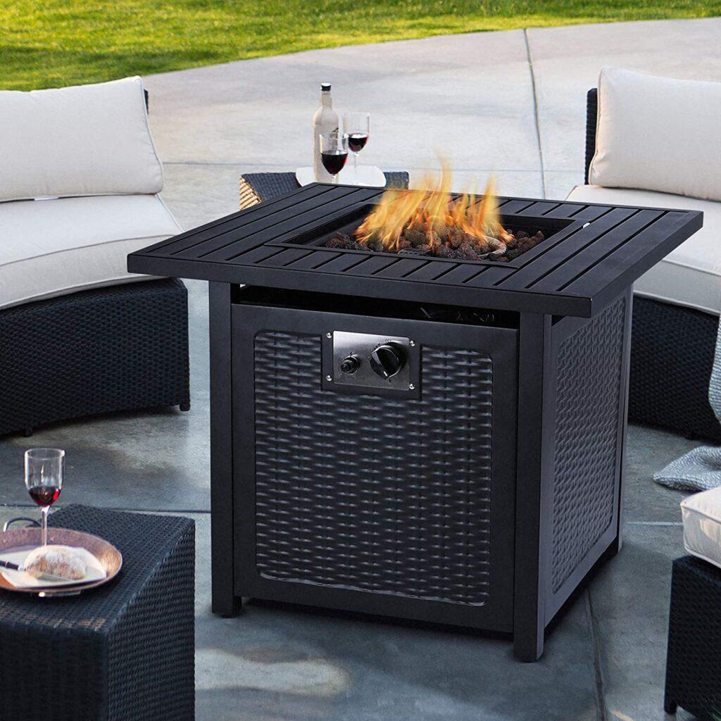 OKVAC 28 Inch propane Fire Pit Table