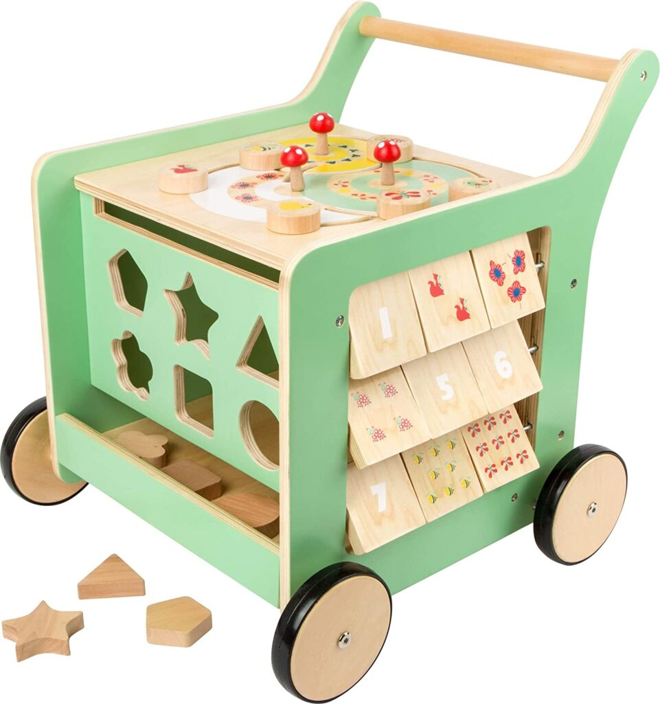Pastel Wooden Baby Walker and playcenter